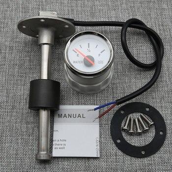 Medidores de nivel de agua para barco y coche, indicador de nivel de agua de 52MM, 0-190ohm, retroiluminación roja, medidor de nivel de tanque de agua marina, Sensor de nivel de agua de 100-550MM 1