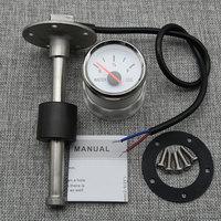 Medidores de nivel de agua para coche y barco, luz trasera roja Agua Marina, medidor de nivel de agua, Sensor de 100-550MM, 52MM, 0-190ohm
