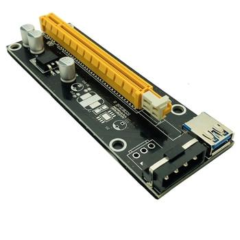 10pcs Pci-e Extender Pci Express Riser Card 1x To 16x 60cm Usb 3.0 Cable Sata To 4pin Molex Power For Btc Miner Machine