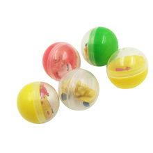 Wholesale Customizable PVC Mixed Capsule Toy Ball Unary Slot Machine Capsule Toy Ball Gashapon Machine Only Elastic Ball(China)