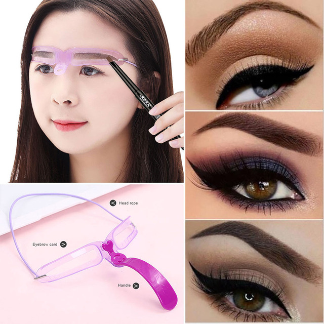 8pcs/set Eyebrow Stencil Reusable Eye brow Shaper Template	Grooming Card Eyebrow Styling Defining Makeup Tools Accessories kat d 4