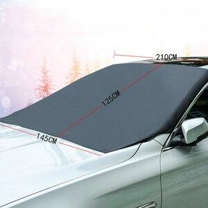 210X120cm Coche magnético cubierta de nieve para parabrisas cubierta de protección solar para invierno ventana delantera cubierta de pantalla de hielo Anti-escarcha y nieve