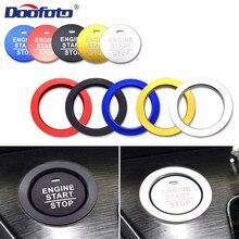 цена на Doofoto Car Start Stop Engine Button Cover For Honda Civic Jazz CRV Dio NC750X Fit Accord Car Accessories Interior Sticker Case