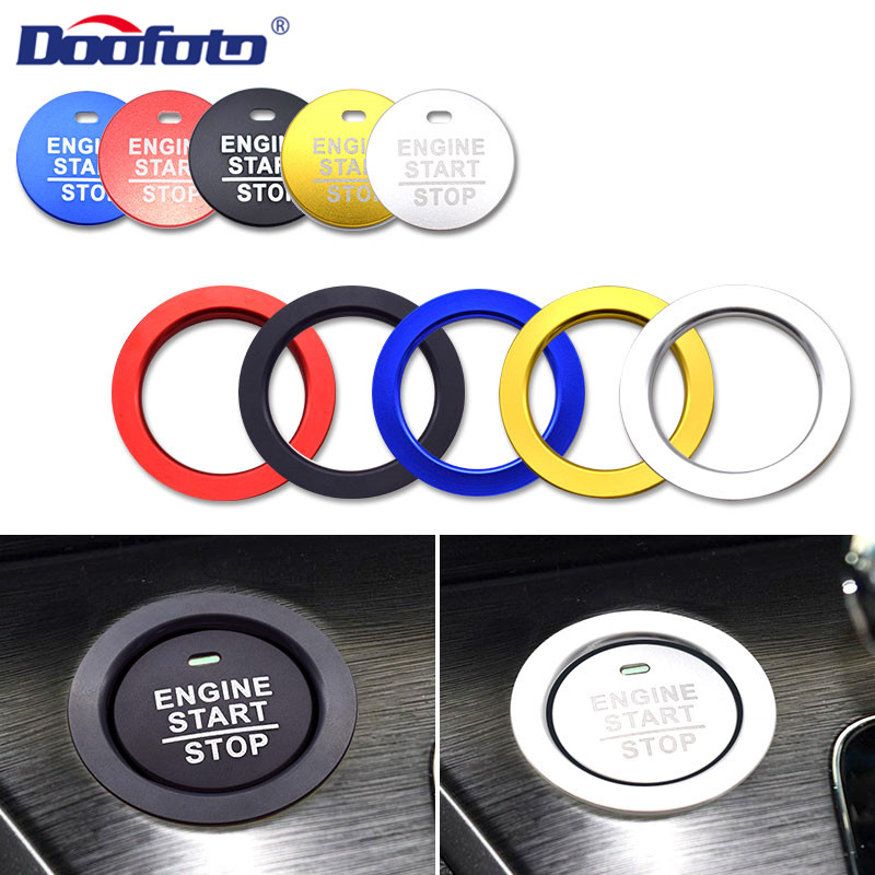Doofoto Car Start Stop Engine Button Cover For <font><b>Honda</b></font> Civic Jazz CRV Dio NC750X Fit <font><b>Accord</b></font> Car <font><b>Accessories</b></font> Interior Sticker Case image