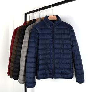 Image 4 - NewBang Matt Fabric Man Down Jackets Ultra Light Down Jacket Men Feather Lightweight Parka  Windproof Warm Coats