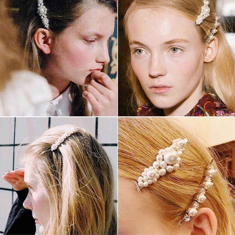 Moda coreano pérola grampo de cabelo para mulheres barrette pinos de cabelo barrettes jóias bb grampos de cabelo para meninas estilo acessórios