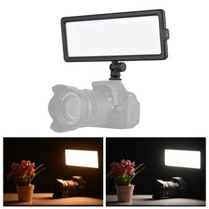 Image 5 - Andoer סופר דק LED וידאו אור לוח 3200 K 5600 K דו צבע Dimmable בהירות עם קר נעל הר עבור Canon Nikon Sony DSLR