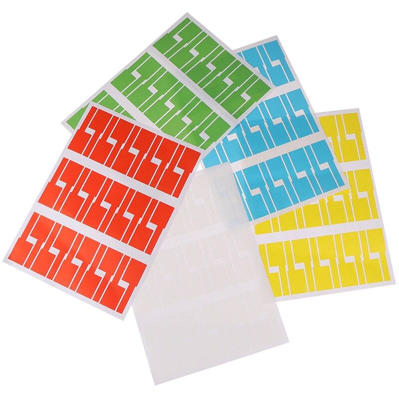 30 шт/лист самоклеящийся кабель стикер водонепроницаемые идентификационные бирки этикетки органайзеры красочные идентификационные бирки|Кабельные стяжки|   | АлиЭкспресс