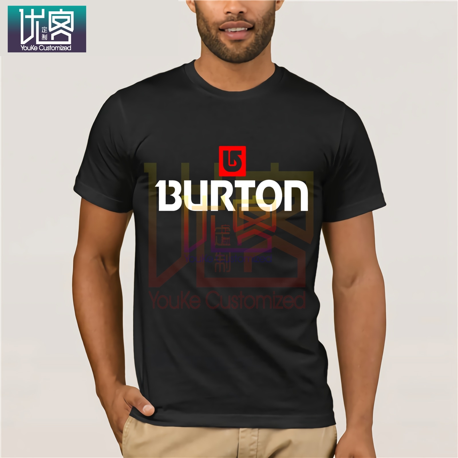 Burton Arrow Logo Snowboards T Shirt Cartoon Tee Shirt Homme Top Tees Men Cool 2020 Shirt Tops Summer Tees Cotton O Neck T-Shirt