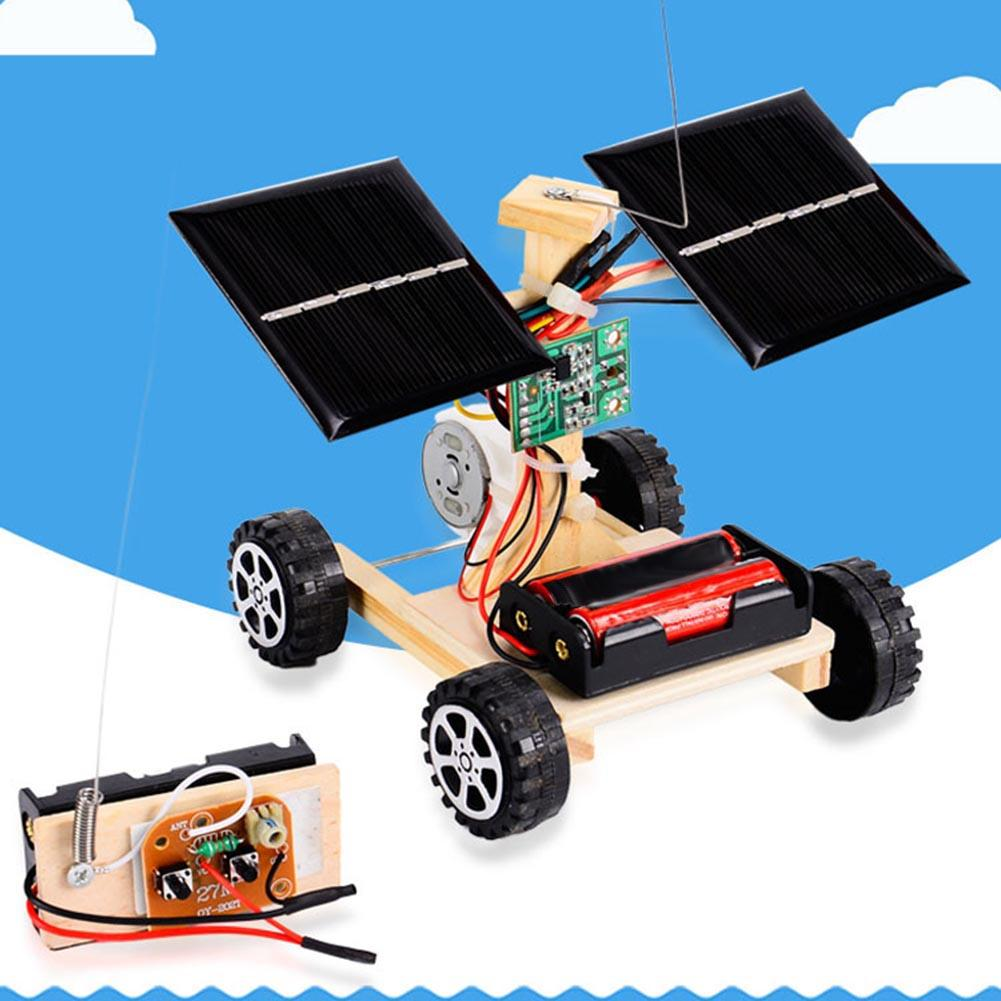 DIY Solar Car Wireless Remote Control Vehicle Model Children Kids Toy Gift Student Science Project Experimental Mterials