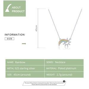 Image 5 - BAMOER colgante de plata de ley 925 con diseño de sol, joyería de boda de 45CM SCN366