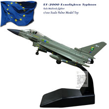 AMER 1/100 Scale Eurofighter Typhoon EF-2000 Multirole Fighter Diecast Metal Military Plane Model Toy For Collection,Gift