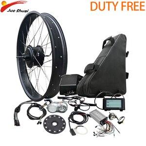 Pneu gordo 4.0 kit de conversão bicicleta elétrica com bateria 48v1000w motor traseiro roda hub motor kit elétrico e bicicleta ebike