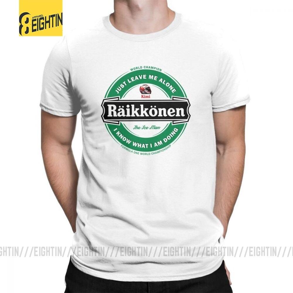2018 Hot Casual T Shirt Kimi Raikkonen T-Shirt Brand Big Size Tee Men Male Custom Printing Tee Short Sleeves Cotton Crew Neck
