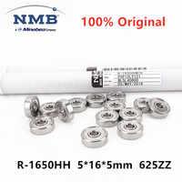 Minebea-rodamiento de bolas en miniatura, 20 piezas de alta velocidad, 5x16x5mm, rodamiento de bolas en miniatura, 625ZZ, original, R-1650HH/100 Uds.