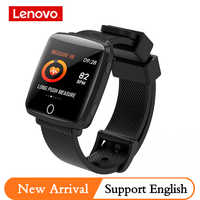 Lenovo HW25P banda inteligente IP68 impermeable 200mAh BT4.0 2.5D superficie curvada reloj inteligente inglés recordatorio deporte impermeable Smartband