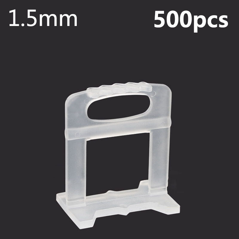 500Pcs 1.5mm Tile Leveling System Levelling Spacers Flooring Tiling Tool For Suit  Household System Floor Tile Kits Tools