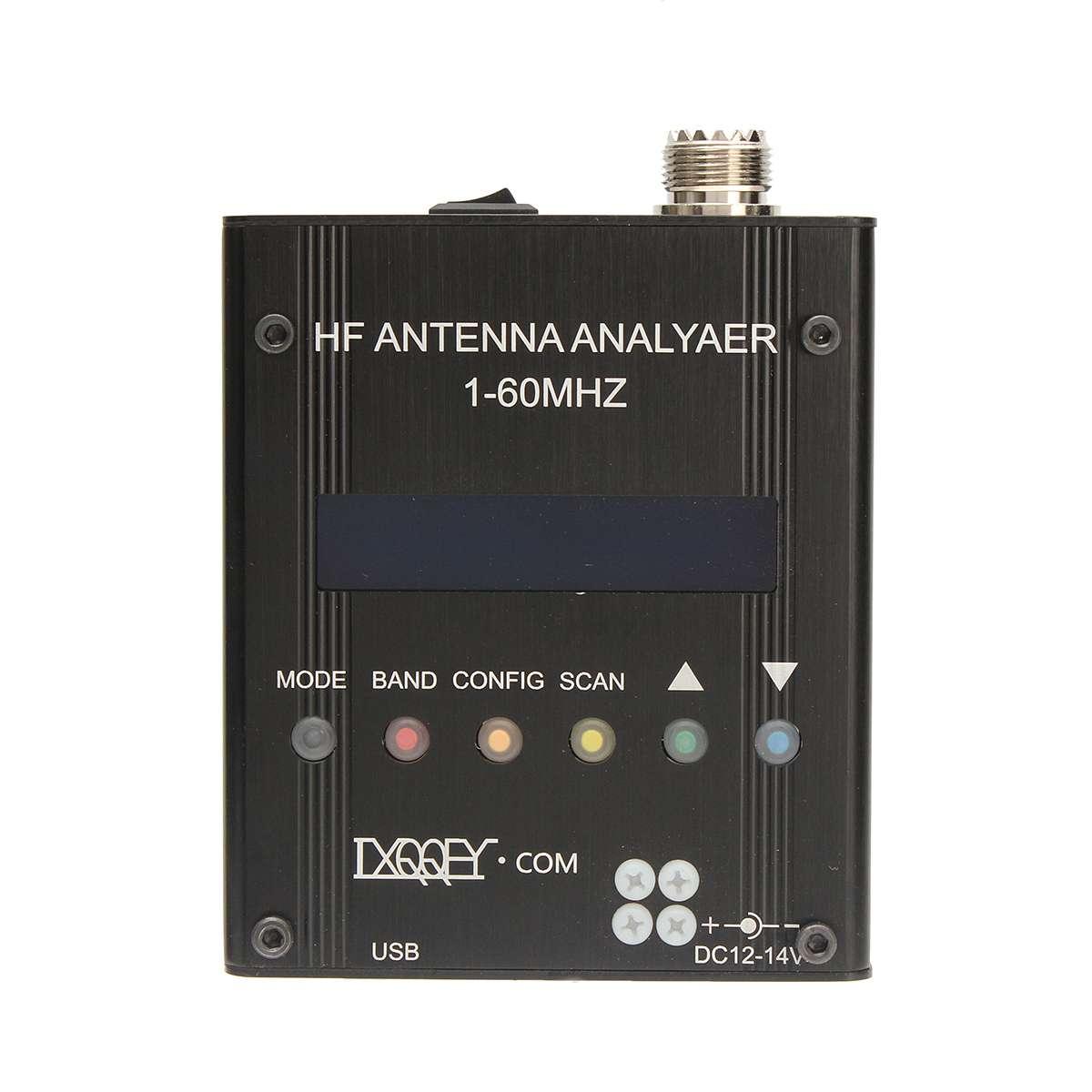 Testeur de compteur d'analyseur d'antenne à ondes courtes MR300 numérique 1-60M pour testeur d'analyseur d'antenne de mètre de haute précision de Radio de jambon