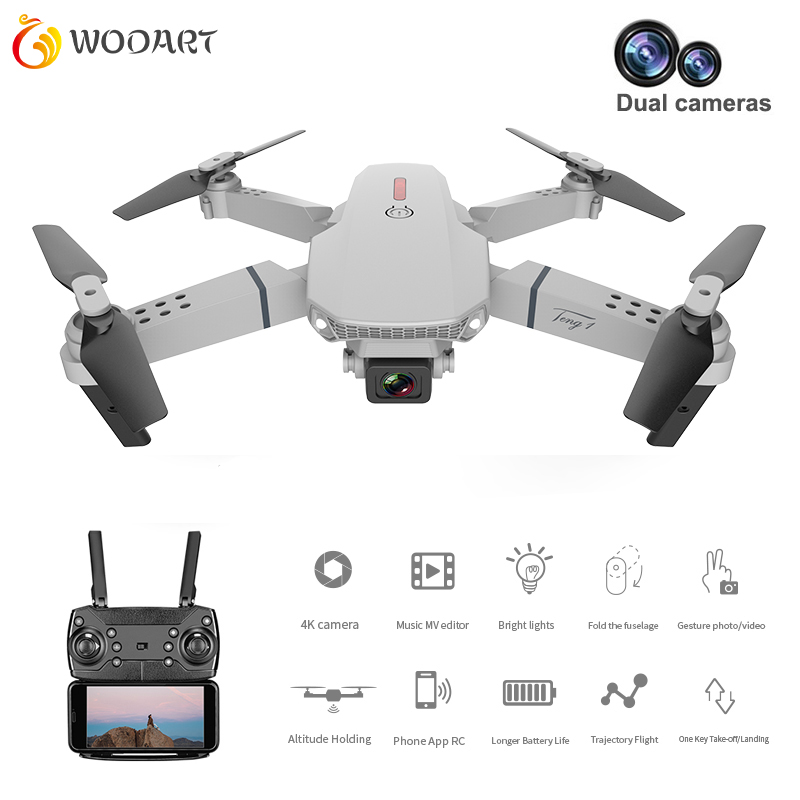 Drone E88 Dual Camera Switching With Hd 1080p Camera Hight Hold Mode Foldable Arm Rc Quadcopter Drone X Pro Rtf Dron For Gift image