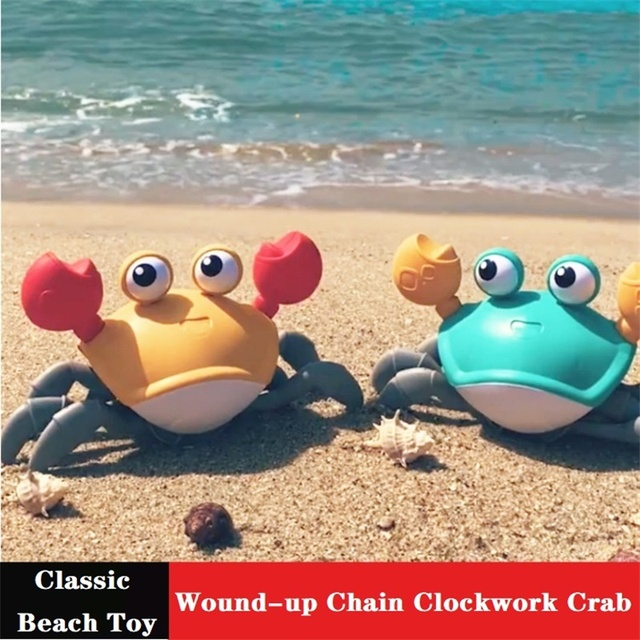 New Classic Cute Cartoon Animal Crab Baby Water Beach Toy Floating Pulling Clockwork Beach Swimming Pool Bath Toys For Kids Gift 1