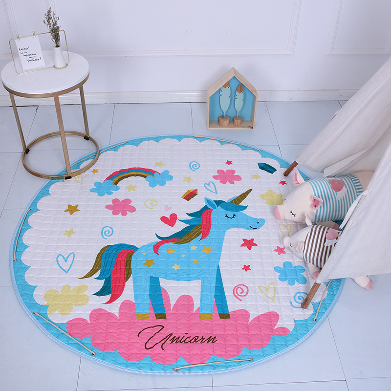Hb05093bca54f4c6bba6f443991a3d0fbA Kid Soft Carpet Rugs Cartoon Animals Fox Baby Play Mats Child Crawling Blanket Carpet Toys Storage Bag Kids Room Decoration