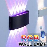 Lámparas Led de pared con atenuación RGB para decoración de habitación, accesorio de iluminación de aluminio sin parpadeo, Control remoto, aplique de pared para cabecera