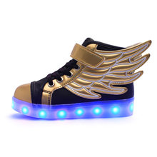 Children Light Up Shoes USB Rechargeable Led Shoes for Gift Boys,Girls Lighting Fashion Shoes toddler sneakers(China)