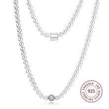 Koraliki i Pave Chain naszyjniki wisiorki 925 srebro kreatywne naszyjniki dla kobiet moda biżuteria collier femme Accesorios