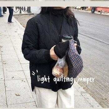 New Loose Baseball Cotton-Padded Coat Bubble Solid Oversized Short Women Jacket Winter Autumn Female Puffer Jackets Parkas Mujer 1