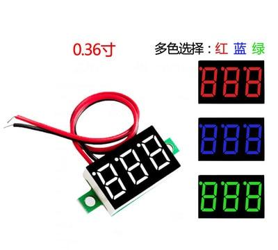 5pcs / Lot Two Wire Voltmeter 0.36 Inch Dc4.5v30v DC Voltmeter Motorcycle Voltmeter Digital Display