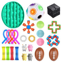 Pack Fidget Sensory Toy Set Stress Relief Toys Autism Anxiety Relief Stress Fidget Sensory Toy For Kids Adults Gifts