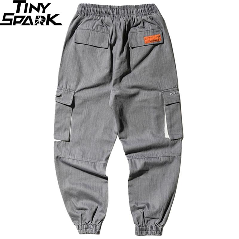 Image 2 - Men Joggers Streetwear Cargo Pants Hip Hip Harajuku Harem Pants  2019 Autumn Casual Tactical Pants Pockets Track Trousers CottonCargo  Pants