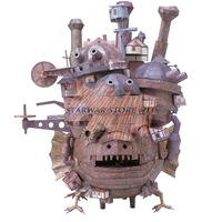 Howl's Moving Castle 3D Paper Model 50cm Tall Land Version Model Educational 3D Puzzle Handmade Toys Present Gift for Children