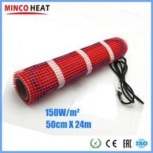 Minco Heat 24 м x 50 см ламинат заварка теплая подстилка водонепроницаемая оболочка плитка цемент пол подходит