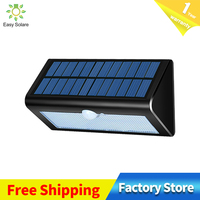 Classic 450lm 38led sun street lamp 3 modes PIR motion sensor garden lights outdoor patio lighting safety lamp