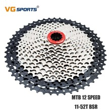 цена VG Sports Cassette 12 Speed 52T Mountain Bike Freewheel Fixie cog cdg  Sprocket Cassete 12 velocidade for Shimano Sram 12V 52T онлайн в 2017 году