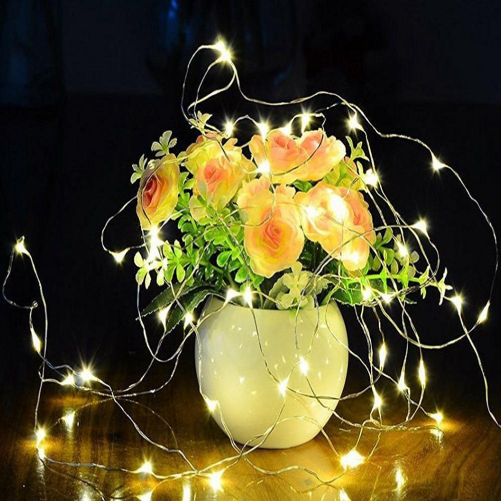 Garland LED String Light Candle Fairy 20 LEDS Chandelier Falsh Lamp Lantern Decorations For Christmas Party Indoor Outdoor