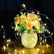 Garland LED string light Candle fairy 20 LEDS chandelier falsh lamp lantern decorations for christmas party indoor outdoor(China)