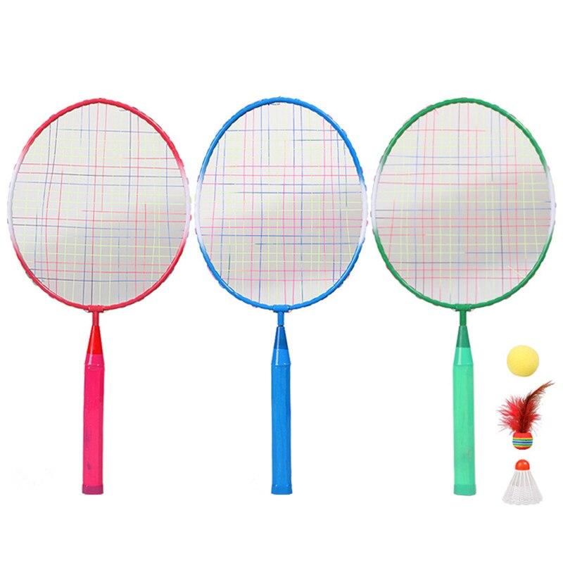 2Pcs 45cm*21cm Kids Badminton Racket Children Mini Battledore Outdoor Sport Game Toy