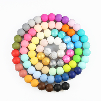 100pc 15mm Loose Silicone Beads For Teething Necklace Baby Beads For Chew Teether BPA Free Loose Beads Teether