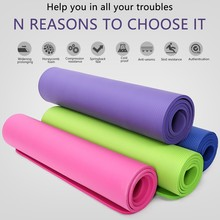 NBR 10MM Non Slip Yoga Mat Exercise Workout Fitness Physio Gym Cushion Non-slip wear-resistant Soft Floor Mat 183 X 81CM cheap Other Accessories Wholesale 1M 2MM 3MM White black thin round Elastic Bands Elastic rope 5yards Lot High-Elastic Sewing Elastic Ribbon Elastic Spandex Band