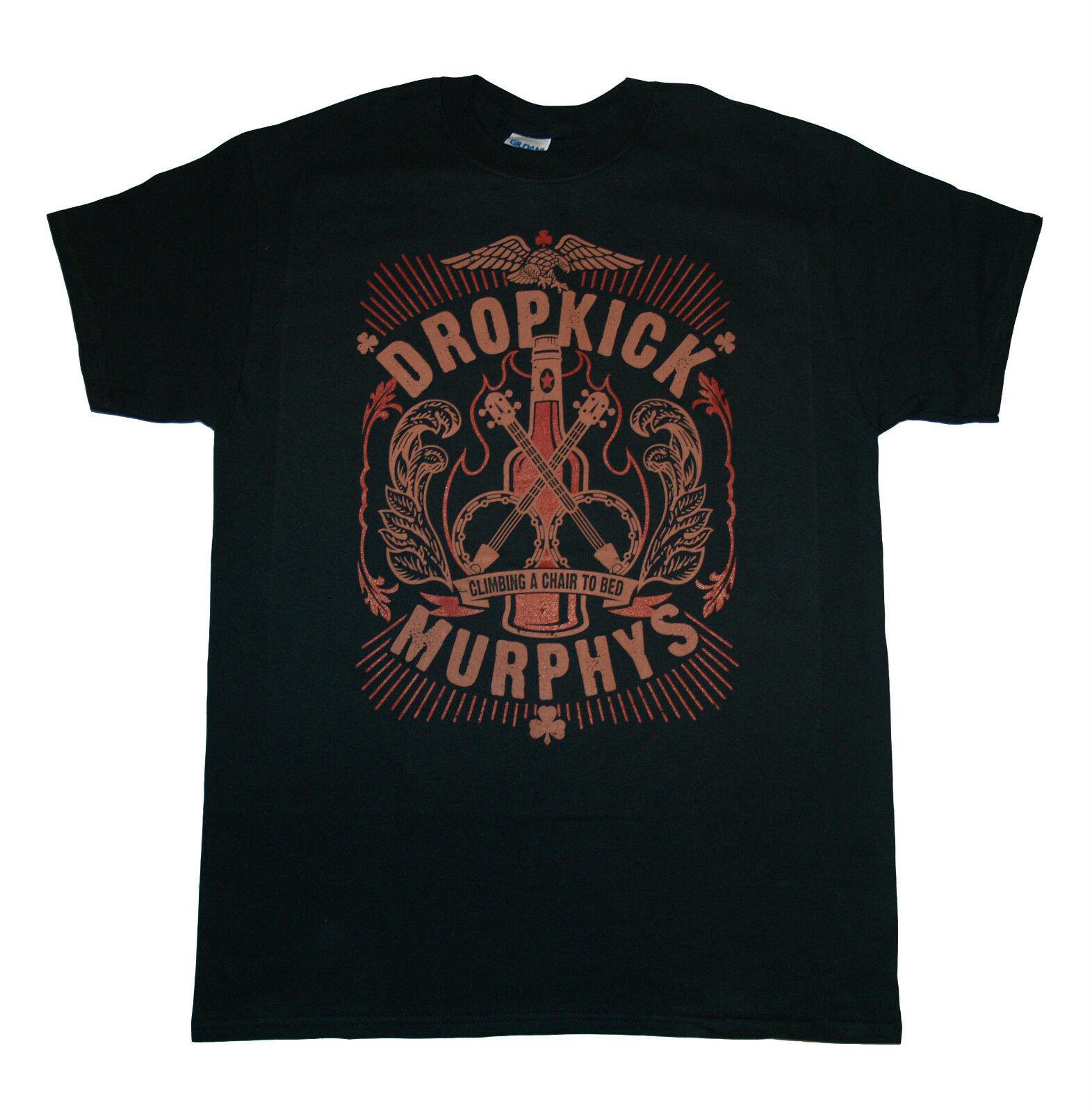 Authentic DROPKICK MURPHYS Vintage Skeleton Piper T-Shirt S M L XL 2XL NEW