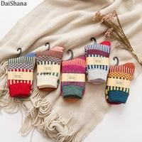 45Pairs New Winter Thick Warm Wool Women Socks Colorful Socks Fashion Casual Euramerican National Wind Flowers Cotton Sock