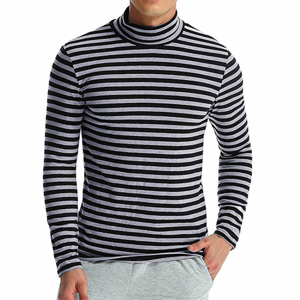 KANCOOLD חולצה גברים סתיו חורף סרוג פסים גולף ארוך שרוול חולצה מזדמן רגיל חולצות משלוח חינם Jan3