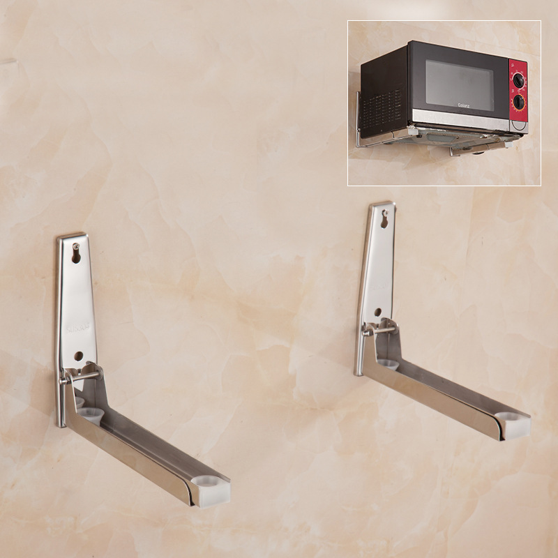 Meal Ding 8066 Kitchen Shelves SUS304 Stainless Steel Microwave Oven Rack Holder Wall Mount A Generation Of Fat