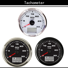 Motor Boat Tachometer Diesel-Boat 3000 Guages-Meter Marine Backlight 85MM with LCD Trip