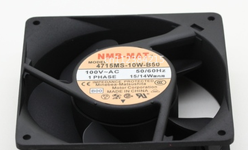 Free Shipping 4715MS-10W-B50 B00 AC 100V 15W 120x120x38mm Server Cooler Fan