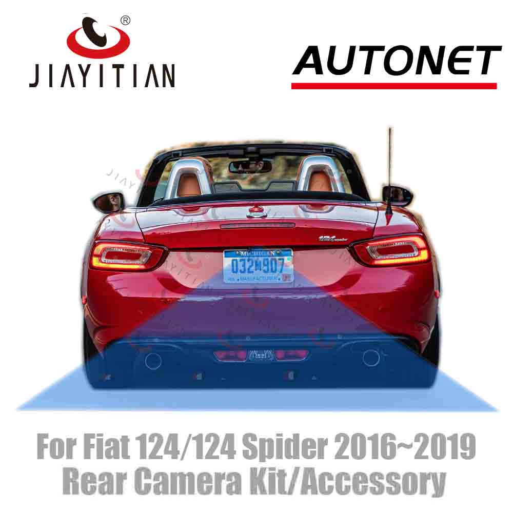JIAYITIAN For Fiat 124/Abarth 124 Spider 2016~2019 2018 Original Factory Screen Adapter Cable Rear View Camera/kit Backup Camera