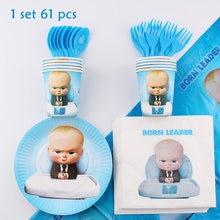 Bebê chefe tema festa de aniversário decorações crianças descartáveis utensílios de mesa festa decoração do chuveiro do bebê saco de presente bolo topper caixa de doces