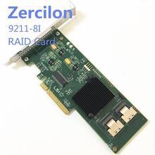 원래 SAS SATA LSI 9211 8i 6Gbps 8 포트 HBA PCI E RAID 컨트롤러 카드 4 테라바이트 HBA 확장 카드 새로운